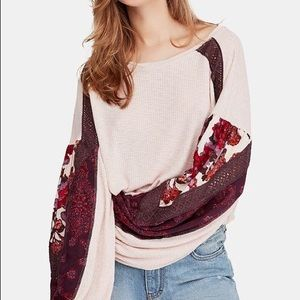 Free People casual clash shirt